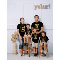 Kaos Baju atasan Couple sarimbit keluarga Distro Oblong Hitam yeluzi