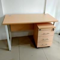 Meja Kantor+Laci Dorong INDACHI 120x60x75 cm WILSON-Molek_Furniture