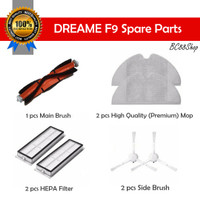 Dreame F9 Vacuum parts (Main Brush, Mop, HEPA Filter, Side Brush)