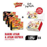 Sedaap Tasty x DindaPS Exclusive Box (2 Bakmi Ayam + 2 Ayam Geprek)