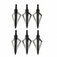 Kepala Anak Panah Hunting Arrow Head Aluminium Blade 6 PCS - Black