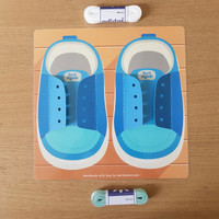 Busy Page - Menali Sepatu Mainan Edukasi Montessori