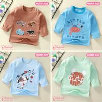 Baju Kaos Anak Bayi Tangan Panjang Lucu Cute Import Laki Perempuan