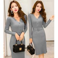 S1 Dress Gea Baju Fashion Wanita Premium Pakaian Cewek Pas Body Santai