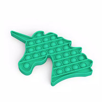 Mainan Anak Fidget Push Pop It Kuda Tanduk Unicorn Tik Tok