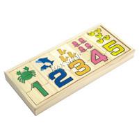Mainan Edukasi Anak Number Wooden Puzzle Kayu Montessori Toy
