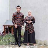 COUPLE Jesna Gown Batik Muslim Baju Kondangan Baju Couple Lebaran