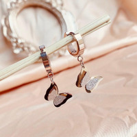 ANTING WANITA ANTING TITANIUM BUTTERFLY ROSEGOLD DIAMOND IMPORT PRIME