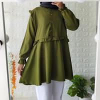 baju blouse wanita warna army