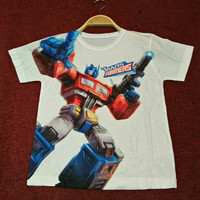 Kaos/Baju Distro Transformers Fullprint 3D Thailand Anak Optimus Prime