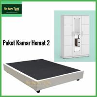 Divan lemari pakaian baju minimalis dipan Re-born Tech® Paket Hemat 2
