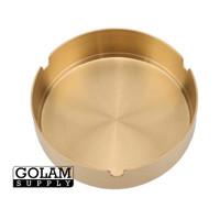 Asbak emas mewah ashtray gold 10 cm stainless steel tebal lucu