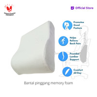 Vablo bantal pinggang memory foam- back cushion memory foam - white