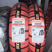 paket ban Maxxis M922F 100/90-12 & M922R 110/90-12 New Scoopy