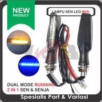 Lampu Sen LED Running M8K D-129 Sein Senja Motor 2in1 Universal