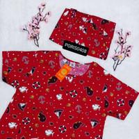 Baju Tidur Piyama HOKI Katun wanita celana 3/4 (ship)