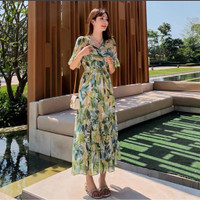 BM - Mimi Tropical Maxi Dress Import Baju Wanita Fashion CNS