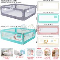 Safety Baby Bedrail Bed Rail Pengaman Pembatas Pagar Kasur Anak Bayi