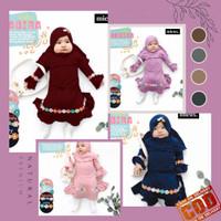 Baju Gamis Bayi Perempuan 0 6 Bulan Shabira Dress Pakaian Anak Muslim