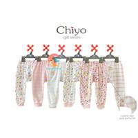 CHIYO 3pcs Celana Panjang Motif Size S,M,L (GIRL SERIES)
