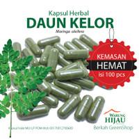 DAUN KELOR 100 Kapsul Herbal Anti Oksidan Alami Kemasan Hemat
