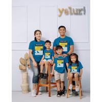 Kaos Baju Atasan Couple sarimbit keluarga DIstro Biru yeluzi