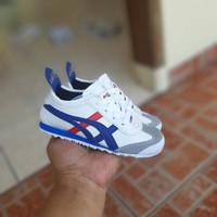 Sepatu Sneakers Anak Asics Onitsuka Kids Model Tali White Cream - Putih, 21/22