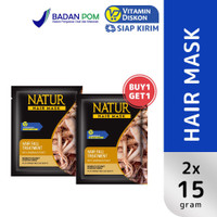 Promo Natur Hair Mask Strength Treatment With Ginseng Extract 15 Gr