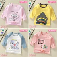 Baju Kaos Anak Bayi Lengan Panjang Lucu Import Laki Perempuan