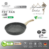 Debellin Grey Fry Pan 28 cm - Penggorengan Granite Anti Lengket - Grey FP28