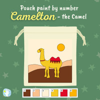 Ramadan Pouch Paint by Number Kit - Camelton the Camel