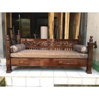Kursi kayu Bale Bale Jati Sofa Bed risban ukir jepara