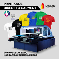 Ongkos cetak kaos DTG kornit 1 muka / print t- shirt custom Sablon