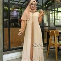 Baju Gamis Muslim Wanita Dewasa Remaja Kekinian Murah Terbaru Moscrepe