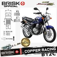 Busi Motor BRISK Copper racing Tipe - B12C Scorpio