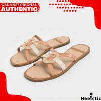 Sandal Flat Charles And Keith Wanita Original Branded Store H399 - Apricot, 35