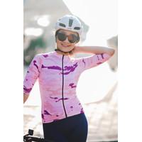 Baju Sepeda Cycling Jersey Cowok/Cewek/Unisex Camo Pink