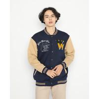 Outerwear Erigo Varsity Jacket Mauve Fleece Navy