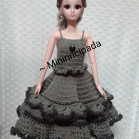 Baju rajutan boneka bjd / barbie 60 cm / (1/3)