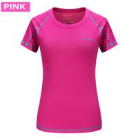 Kaos T-shirt Olahraga Wanita Lengan Pendek Kaos Polos Bahan Dry Fit