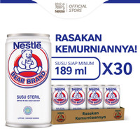 BEAR BRAND MILK Minuman Siap Minum 189ml [ 30 Pcs]