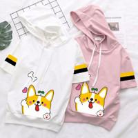 hoodie kaos baju blouse atasan hoody wanita anak remaja lucu bluss