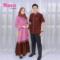 Baju Couple Terbaru 2021 Hawa Set Sarimbit Gamis Modern Model Elegan - D, All Size