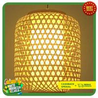 LAMPU Gantung hias model lampion bambu / Lampu cafe