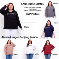 Blouse Jumbo SMP Spandek Motex Panjang Baju Atasan Wanita Adem Melar