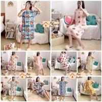 DT004 Daster Rumah Wanita / Daster Tidur Import Size Besar Motif Lucu - Motif Acak