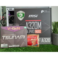 Msi A320M Pro max Plus V-gen DDR4 8GB kit Free Kopi GoodDay