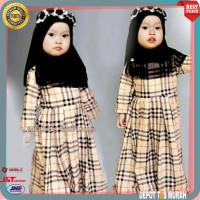Baju Gamis maxi Anak Cewe Perempuan Kid Fashion Lebaran Terbaru Murah