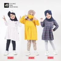 AmmarKids Kaos Anak Cewek Tunik Anak Remaja Perempuan Usia 3-12 Tahun - SWT01, S