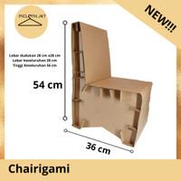 Chairigami/kursi anak/kursi kecil/kursi gambar/kursi kardus kokoh - 2 kg
